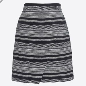 J. Crew Factory Black Tweed Mini Skirt